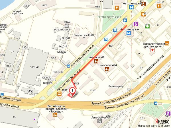 Схема прохода в центральный